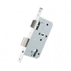 DIN Euro Sash Lock 60mm Backset- Satin Stainless Steel