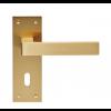 Sasso Lever Handle Range - Satin Brass