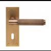 Varese Knurled Lever Handle Range - Antique Brass